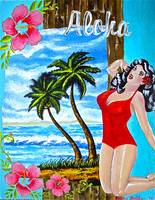 Tropical Pinup Girl