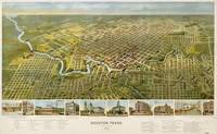 Vintage Pictorial Map of Houston Texas (1891)