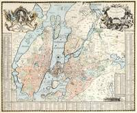Vintage Map of Stockholm (1733)