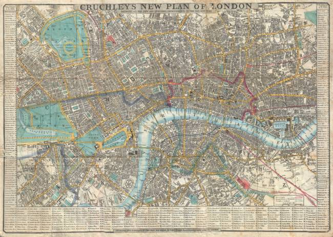 Vintage Map Of London England 1848 By Vintage Map Store