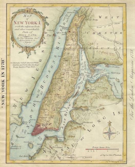 Vintage Map Of New York City Vintage Map of New York City (1869) by Vintage Map Store