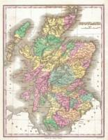 Vintage Map of Scotland (1827)
