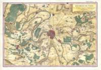Vintage Map of Paris and Surrounding Areas (1780)