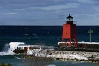 Charlevoix Lighthouse in Winter
