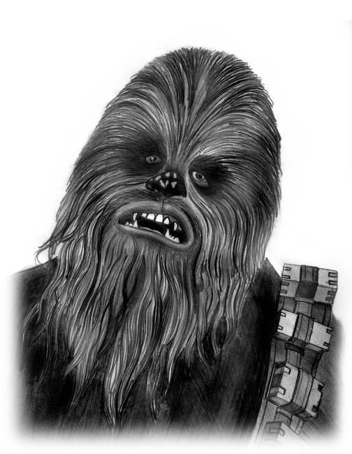 Stunning Quot Chewbacca Quot Drawings And Illustrations For Sale