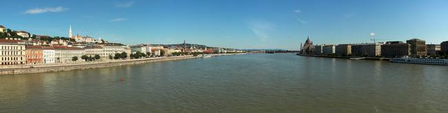 Panorama of Danube river