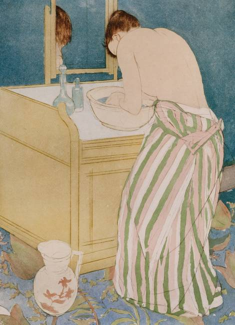 Woman bathing, 1890-91 )drypoint & aquatint on pap
