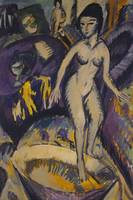 Female Nude with Hot Tub, 1912 (oil on canvas)