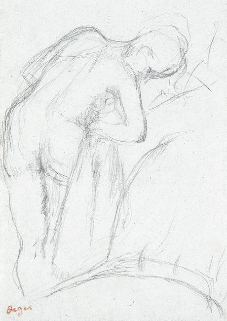After the Bath )pencil on paper(