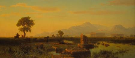 Ruins of Paestum, 1858 (oil on canvas)