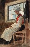 Scandinavian Peasant Woman in an Interior, c.1906
