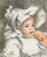 Child with a Biscuit, 1899 (colour litho)