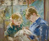 The Artist's Daughter, Julie, with her Nanny, c.18