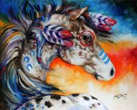 APPALOOSA INDIAN WAR HORSE