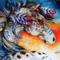 APPALOOSA INDIAN WAR HORSE by Marcia Baldwin