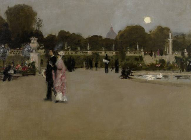 Luxembourg Gardens at Twilight, 1879 )oil on canva