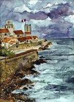 Marseille France Watercolor and Ink