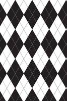 Black and White Argyle