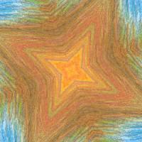 spiky star Art Prints & Posters by Tj Allen
