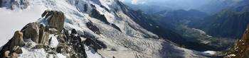 Panorama over Glacier des Bossons