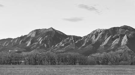 Rocky Mountain Front Range Boulder Flatiron Pano B