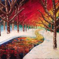 colorful winter Art Prints & Posters by janie kraemer