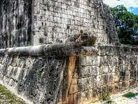 Serpent and Hieroglyphics at Chichen Itza