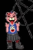Punk Bear on transparent background