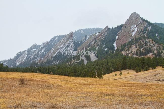 Flatirons Boulder Colorado Winter View