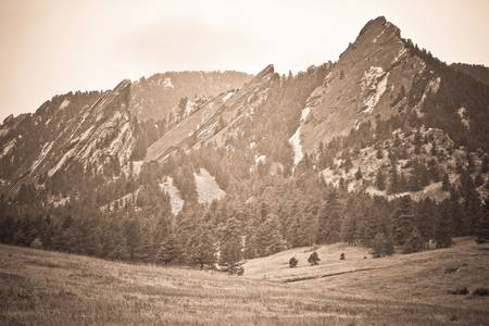 Three Flatirons Boulder Colorado Back In The Day