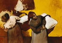 Laundresses; Blanchisseuses, c.1876 (oil on canva