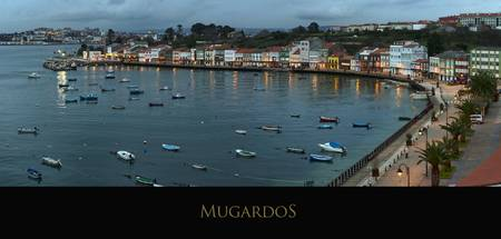 Panorama of Mugardos. La Coruña, Spain