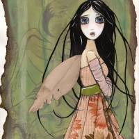 Blue Eyed Fairy Art Prints & Posters by Kirstin McCulloch