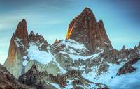 Mount Fitzroy at sunset, Patagonia