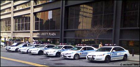 NYPD Patrol Units @ 1 Liberty Plaza