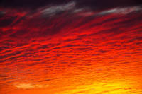 Red Orange Sunset Clouds