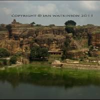 Badami North Karnataka Art Prints & Posters by ian watkinson