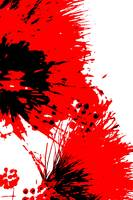 Splatter Black White And Red Series