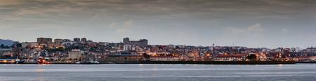 Panorama of Ferrol's skyline from Mugardos, La Cor