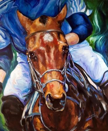 POLO HORSE ORIGINAL by MARCIA BALDWIN