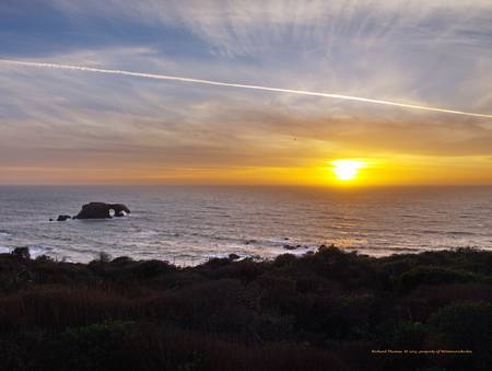 Sunset at Goat Rock State Beach by Richard Thomas