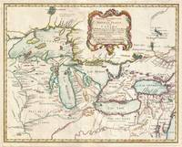 Vintage Map of The Great Lakes (1755)