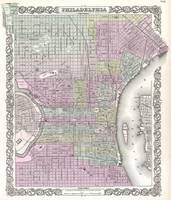 Vintage Map of Philadelphia (1855)