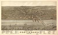 Vintage Map of Cleveland Ohio (1877)