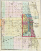 Vintage Map of Chicago and Surrounding Areas (1869