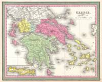 Vintage Map of Greece (1853)