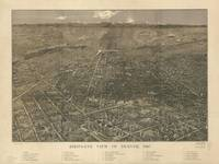 Vintage Map of Denver Colorado (1887)