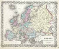 Vintage Map of Europe (1855)
