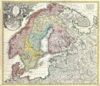 Vintage Map of Scandinavia (1730)