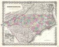 Vintage Map of North Carolina (1855)